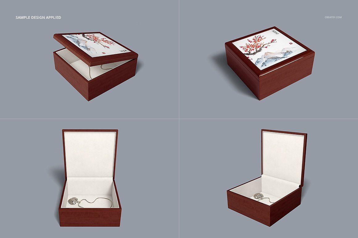 Download Tiled Wood Jewelry Box Mockup Set Wood Jewelry Box Wood Jewellery Wood Tile