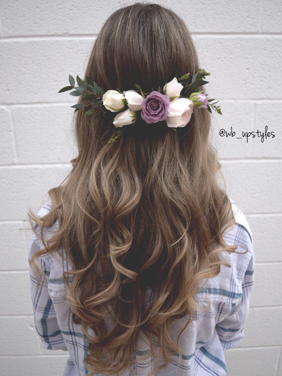 down hairstyle for wedding. gorgeous long wedding hair. half