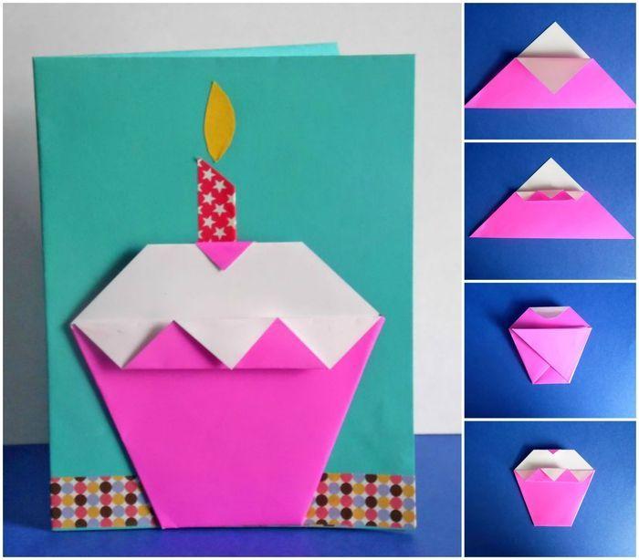 comment faire une carte d anniversaire facile ▷ 1001 + idées de bricolages pour apprendre l'art de pliage en
