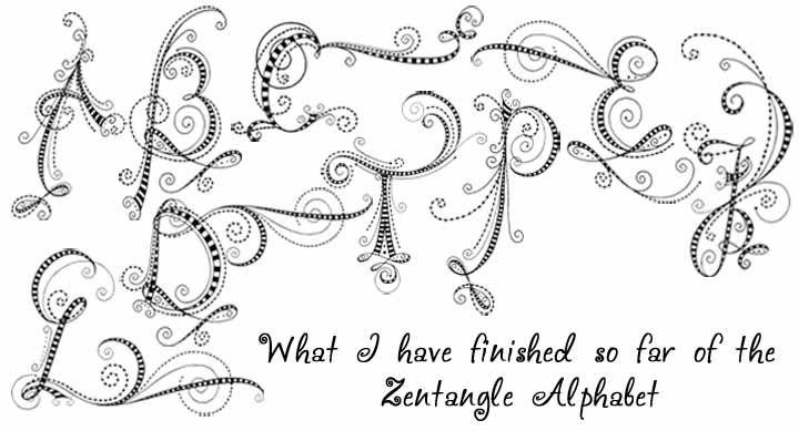 Zentangle Alphabet | Zen doodle patterns, Cool lettering ...