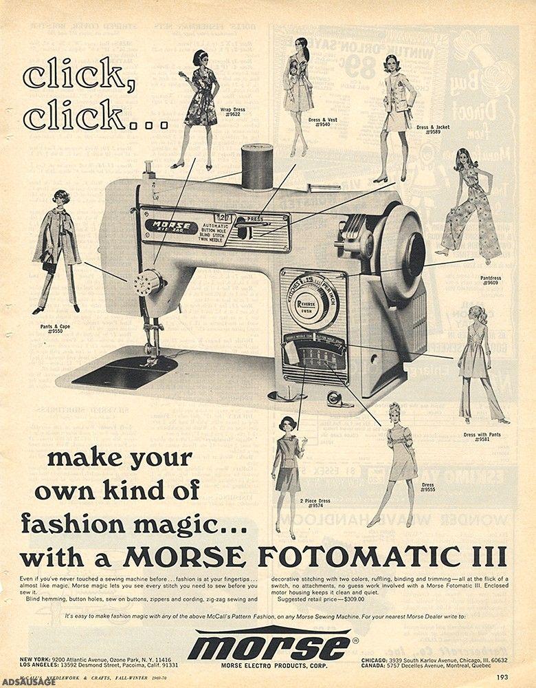 Morse Fotomatic III Sewing Machine