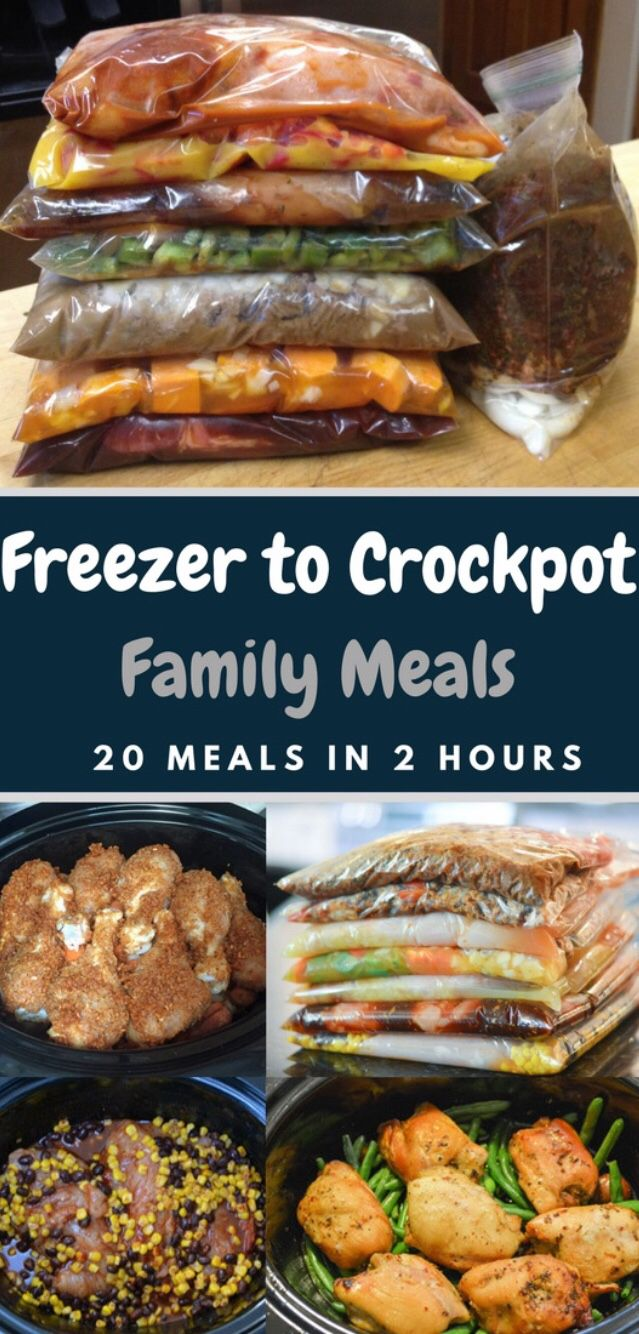 Freezer To Crockpot : 20 Family Meals in 2 Hours images