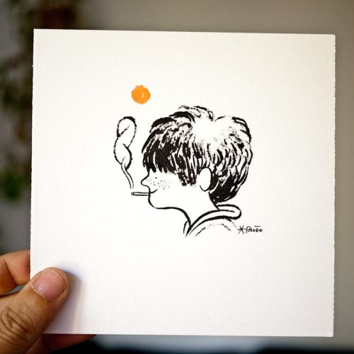 My sixteenth #Inktober drawing is for sale for 40€. Ink and...