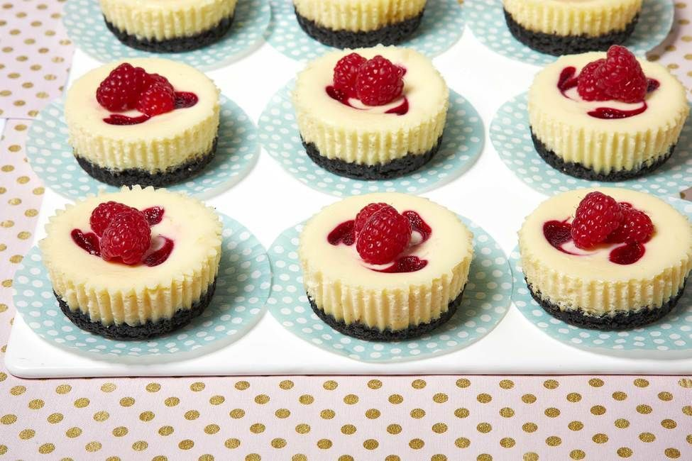 Celebrate the holidays with Mini White Chocolate-Raspberry Cheesecakes. Fresh raspberries add bright and festive color to these Mini White Chocolate-Raspberry Cheesecakes which are both pretty and delicious. #whitechocolateraspberrycheesecake Celebrate the holidays with Mini White Chocolate-Raspberry Cheesecakes. Fresh raspberries add bright and festive color to these Mini White Chocolate-Raspberry Cheesecakes which are both pretty and delicious. #whitechocolateraspberrycheesecake