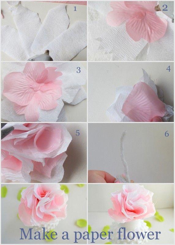 Simple Diy Paper Flowers Paper Flowers Diy Making Fabric