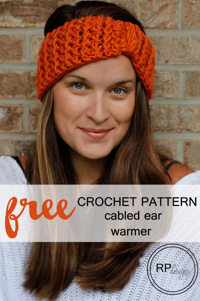 Free Crochet Pattern for a Cabled Ear Warmer | Patrones de ganchillo