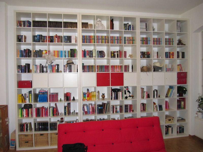 Ikea Bookshelves Take A Stand On Versatility 23 Creative Ideas Love The Idea Of Large Bookcases