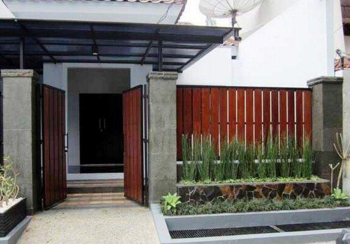 Pagar Rumah Kayu Sederhana Modern Ruang Keluarga Minimalis Rumah Minimalis Dekorasi Rumah Pedesaan