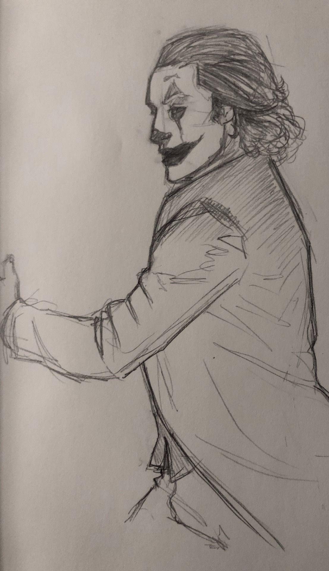 Supertwisty Joaquin Phoenix Joker Sketch Joker Sketch