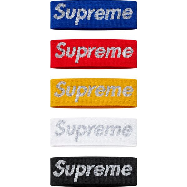 Supreme New Era Reflective Logo Headband ❤ liked on Polyvore featuring  accessories a08d7bdc325