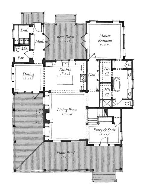 New Parkview Southern Living House Plans Southern Living House Plans House Plans House Floor Plans