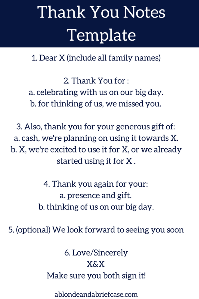 wedding thank you note template how to write your wedding thank you
