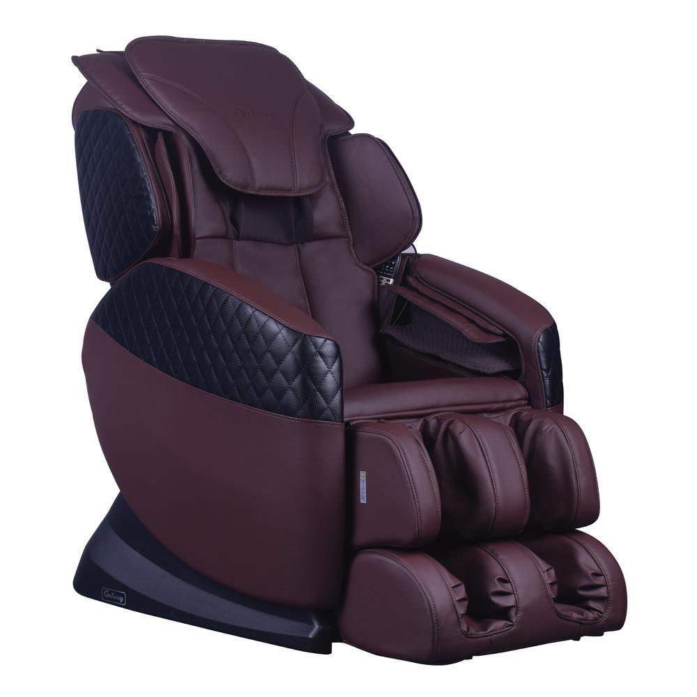 Galaxy Series Black Faux Leather Reclining Massage Chair With 6
