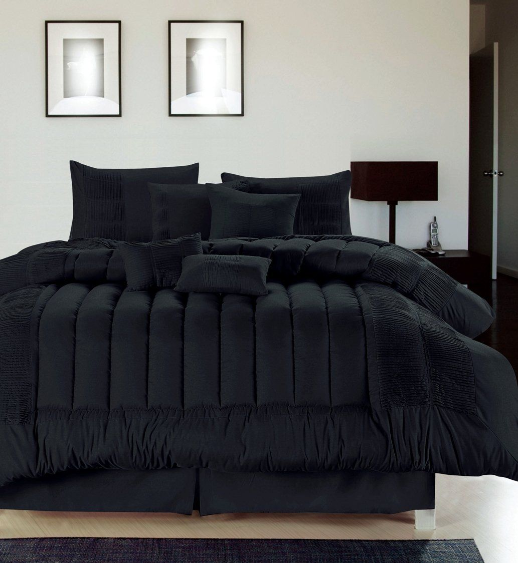 another great find on black seville embroidered comforter set by chic home design