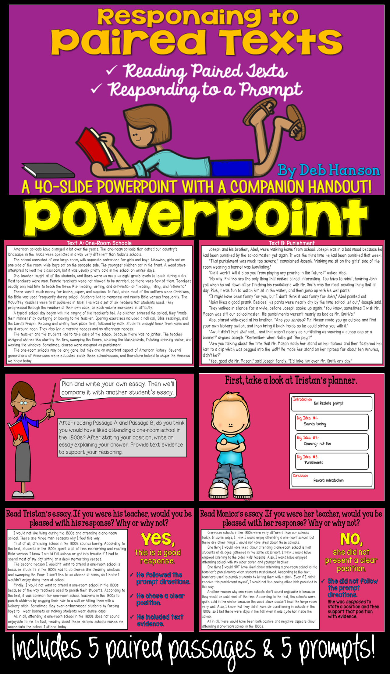 paired texts powerpoint activities student and middle school do you need some paired passage activities to use your upper elementary and middle school