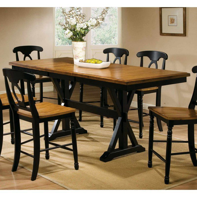 Winners Only Quails Run Counter Height Dining Table With 18 In. Butterfly  Leaf   DQT13678