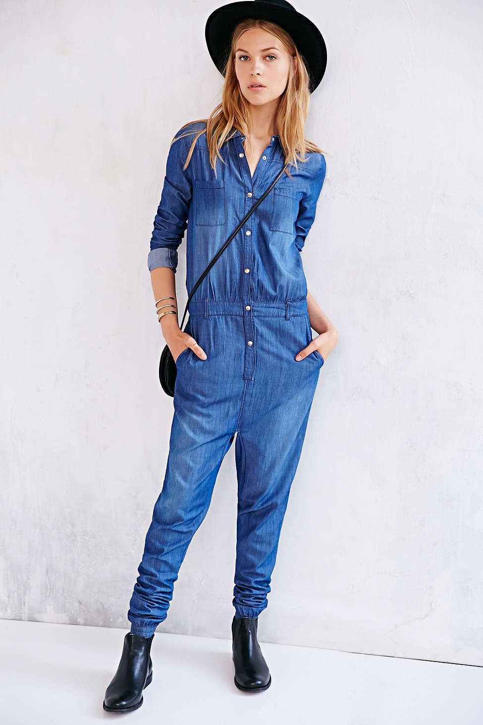 845cc60acc03 One Teaspoon Chambray Defender Utility Jumpsuit