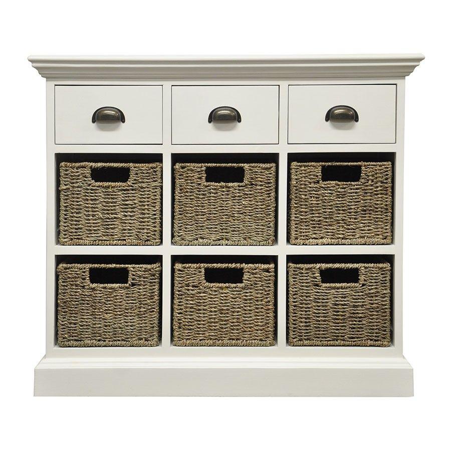 Miraculous Tocino Ready Assembled 3 Drawer 6 Basket Wooden Storage Unit Uwap Interior Chair Design Uwaporg