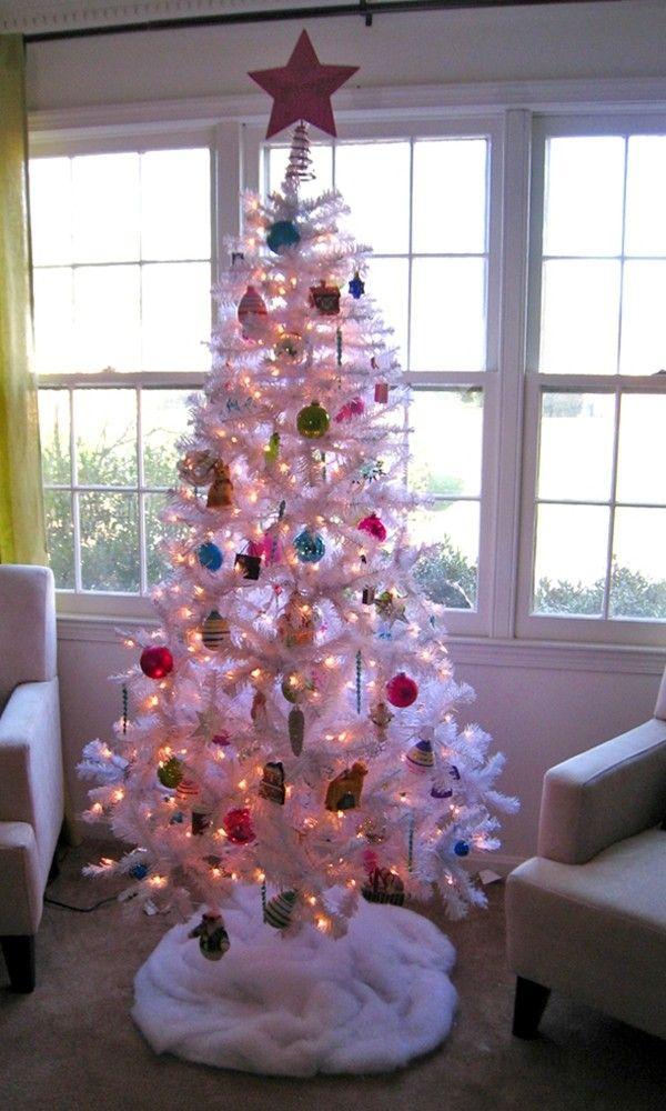 2013 prelit christmas trees, 2013 DIY Prelit Christmas Tree, White - white christmas tree decorations