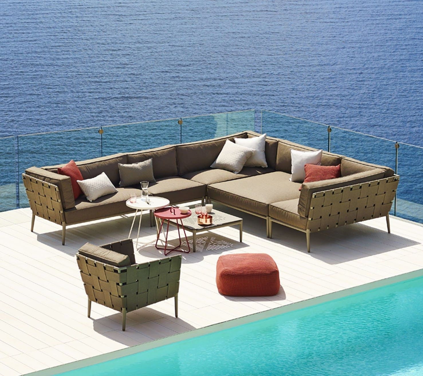Conic Lounge Chair By Cane Line Outdoor Lounge Furniture Lounge Furniture Contemporary Furniture Design