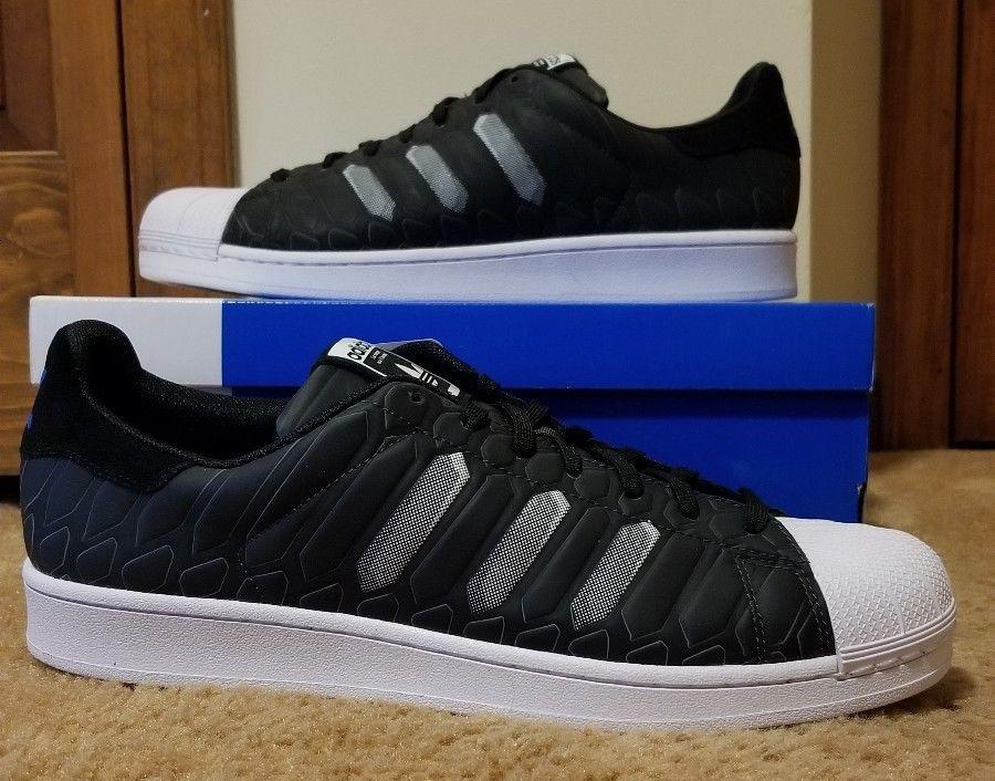new product fb697 19c75 fashion Adidas Originals Superstar CTXM Chromatech Shoes Black White AQ7841  Size 13