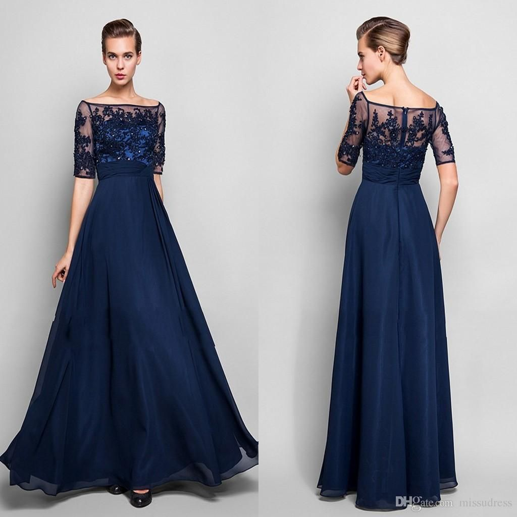 evening dress blue