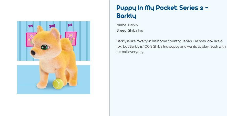 Puppy In My Pocket Series 2 Barklythe Shiba Inu My Pocket