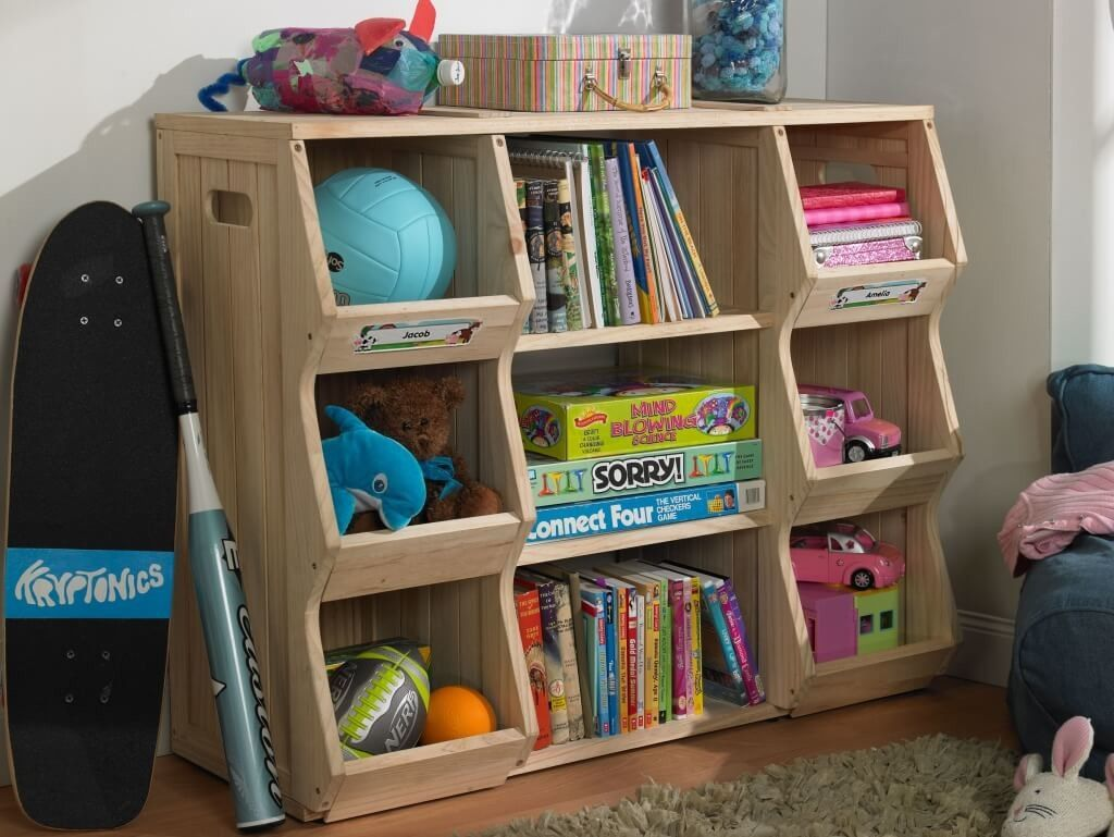 Interior Design Robust Oak Wood Kids Rooms Book Storage And Also