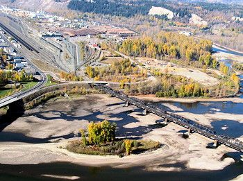 Prince George Canada >> The City Of Two Rivers Prince George Bc Fraser And Nechako Rivers