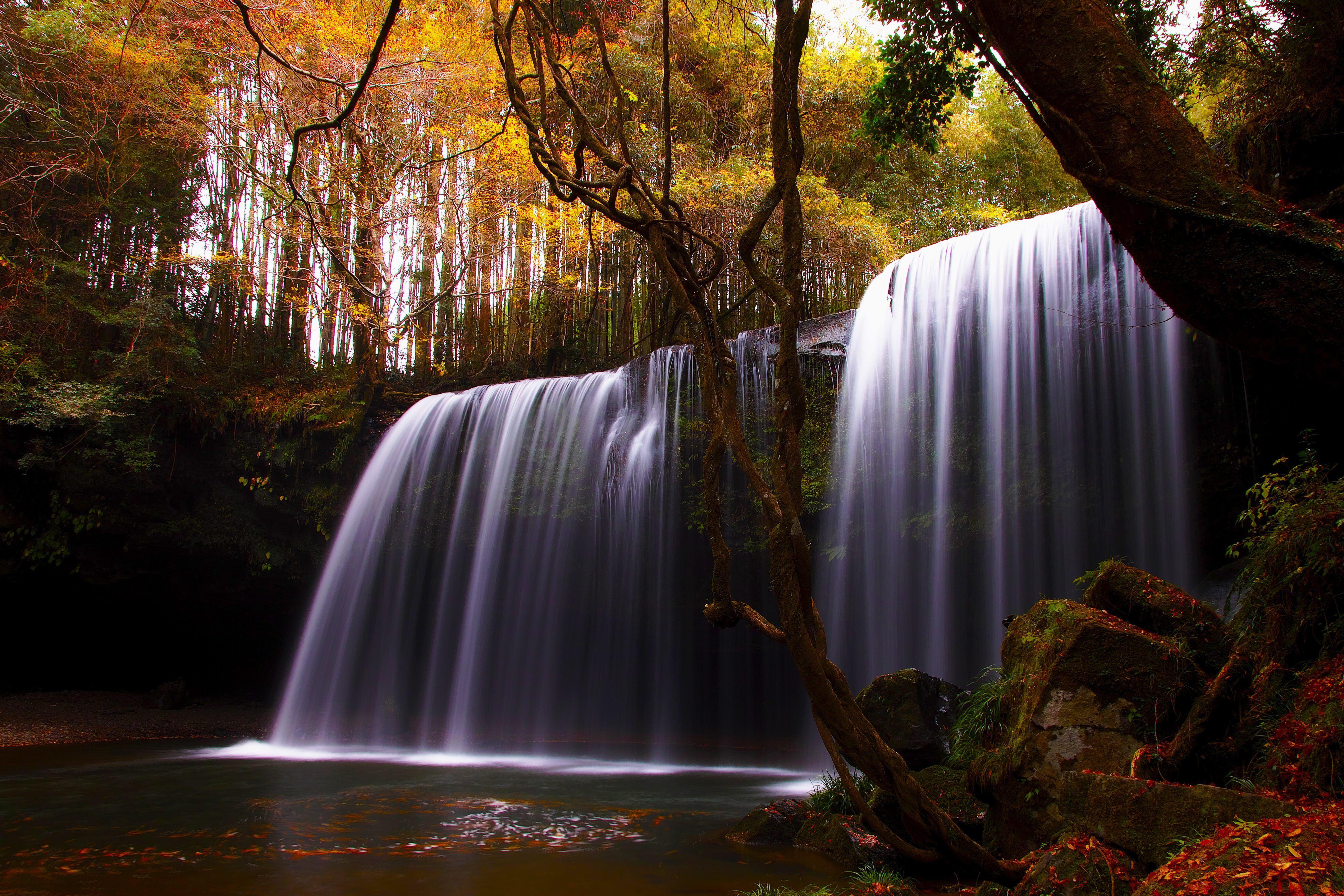 Обои водопад, осень. Природа foto 8