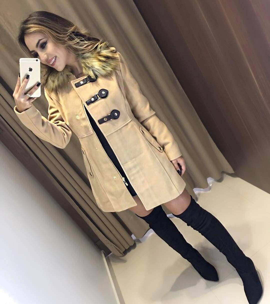 """42b83fc9c ... comentários - Estação Store ( estacaostore) no Instagram  """"Para tudo!  Que casaco é esse  Completamente apaixonada ❤ Sobretudo Aline Compras on  line …"""