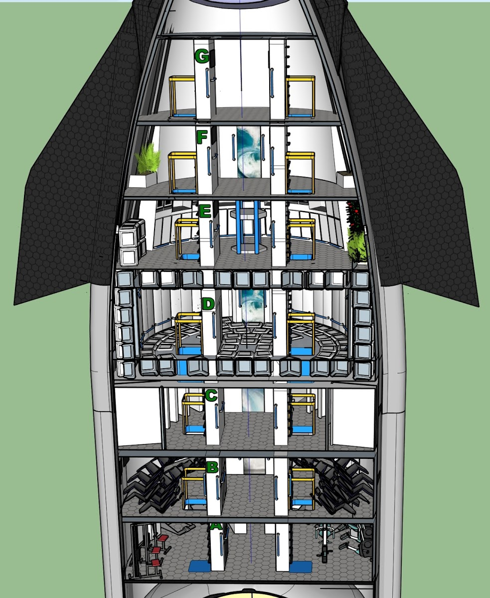 SpaceX Starship interior concept for 100 passengers | Spacex starship,  Spacex, Starship designPinterest
