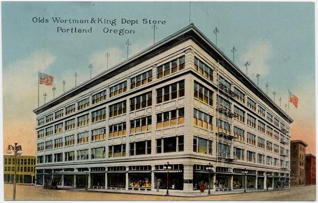 In 1910, Olds, Wortman and King built a new store at Morrison, Alder, Tenth and West Park Streets and it was the first store in the Northwest to occupy an entire block