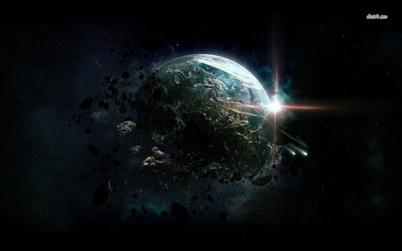 Destroyed Planet Hd Wallpaper Landscape Concept End Of The World Planets