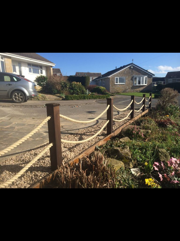 Rope Fence, Backyard Fences, Cheap
