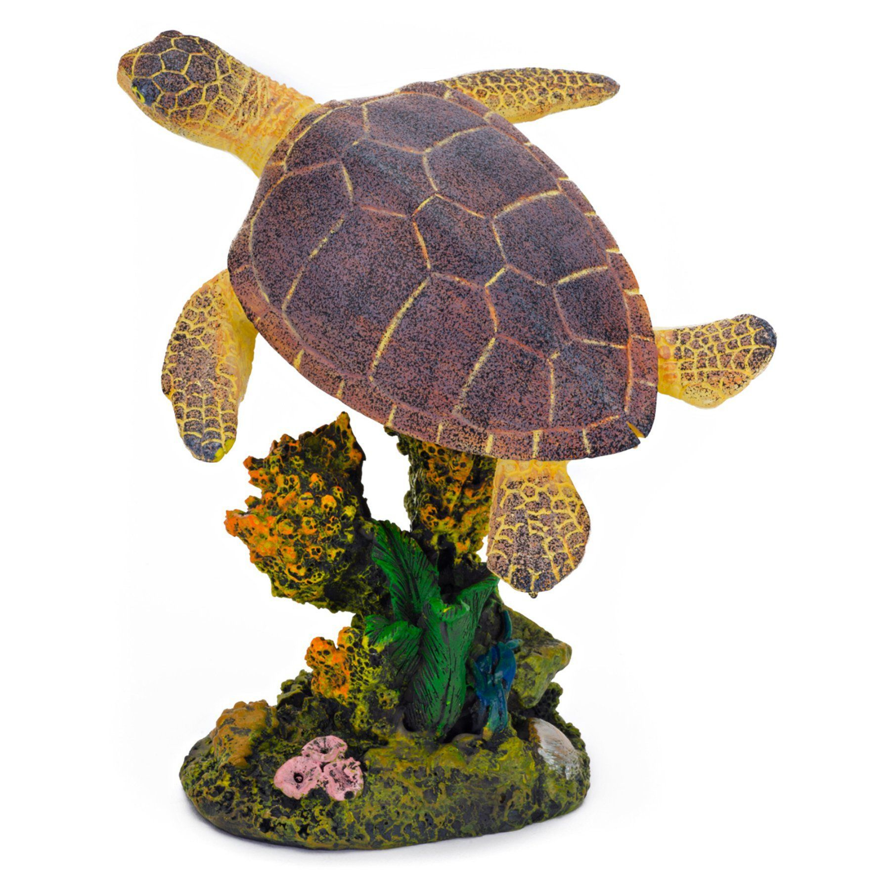 Penn Plax Swimming Sea Turtle Aquarium Figure - Medium - 3L x 4.5H in. - RR1107