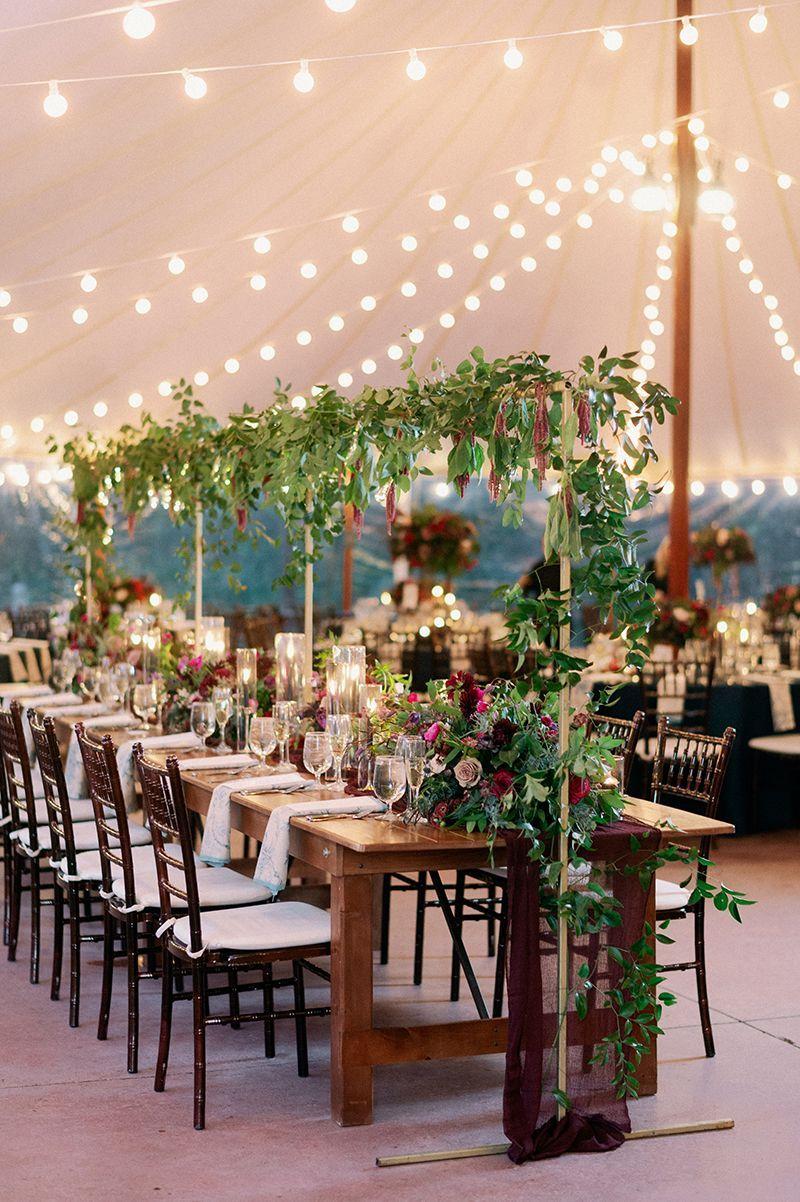 Wedding Reception At Farm Table Wedding Massachusetts Wedding