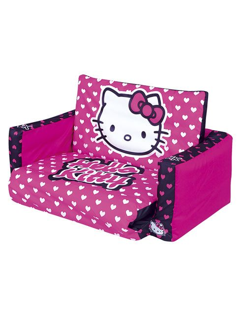 This Official Hello Kitty Tween Flip Out Sofa Bed Is A