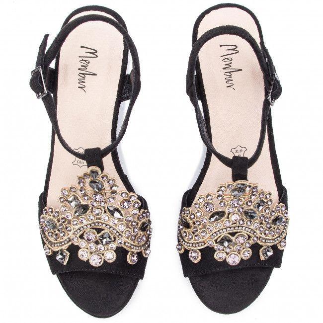 Sandaly Menbur 20365 Black 0001 Koturny Klapki I Sandaly Damskie Www Eobuwie Com Pl Heels Fashion Shoes