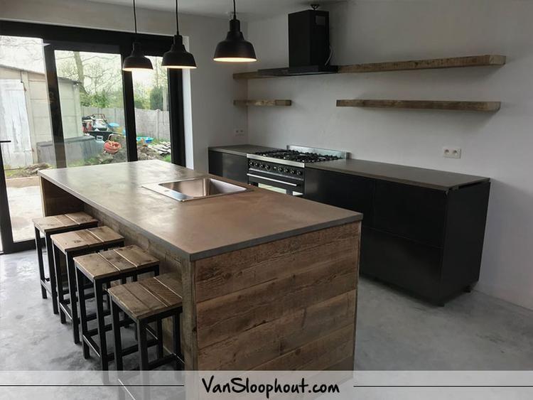 Wandplanken Van Beton : Een tijd geleden hebben we deze betonlook keuken in essen geplaatst