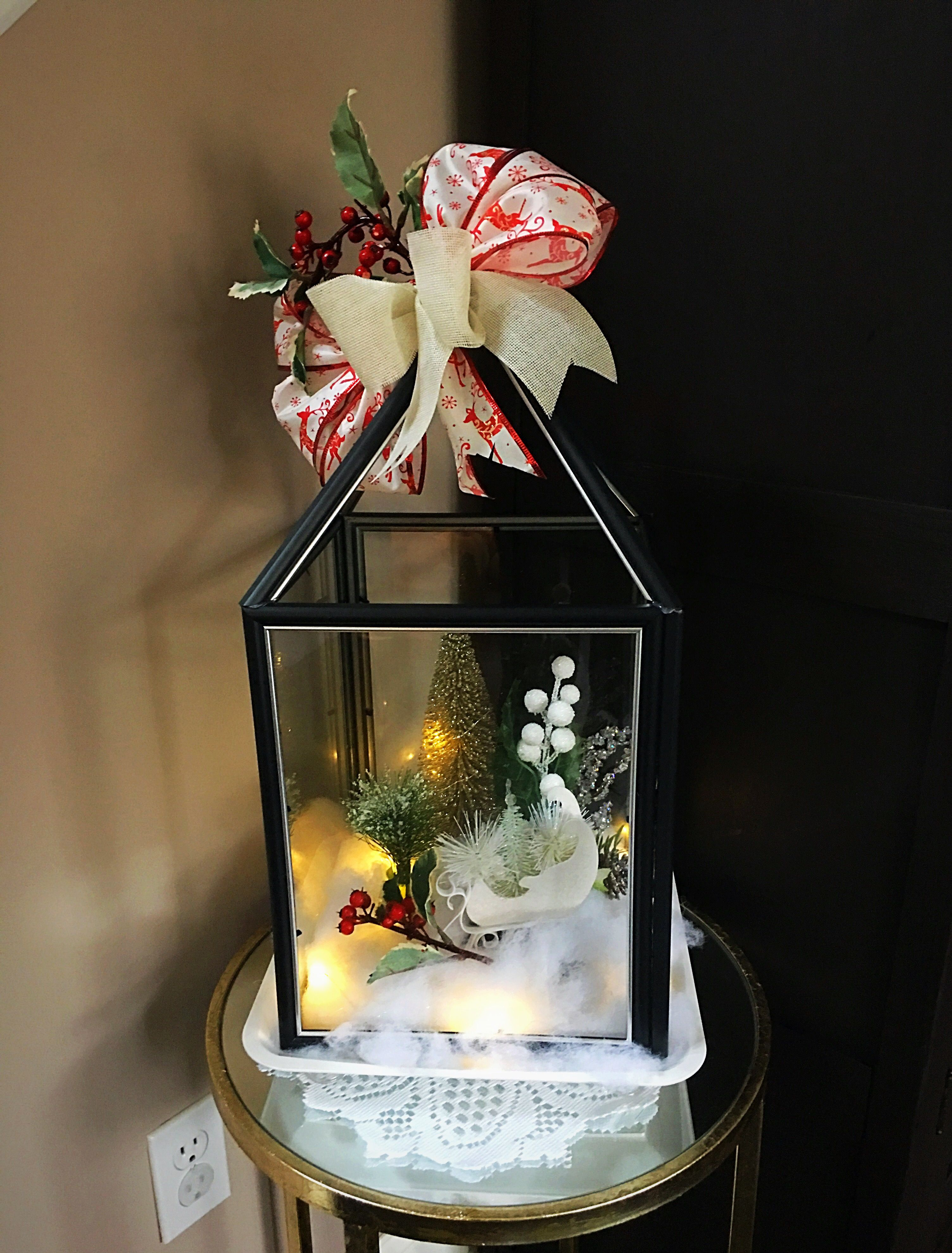 DIY Dollar Tree Holiday Lantern Christmas lanterns diy