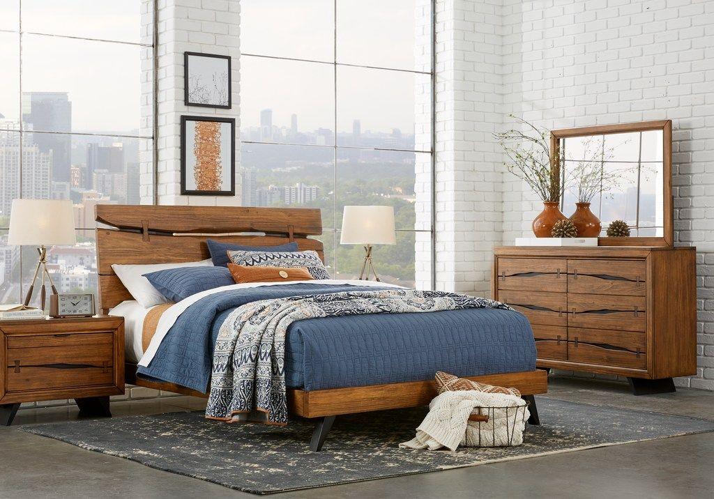 Dana Point Brown 5 Pc Queen Panel Bedroom King bedroom