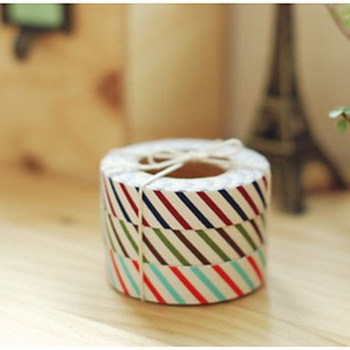 Vertical Cross Grain Fabrics Tape(1 PCS Random Color) – EUR € 1.74 #washitape