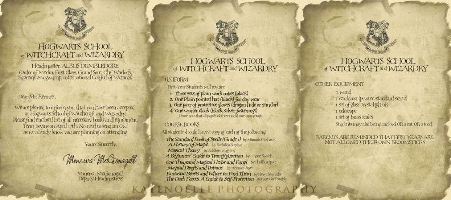 blog hogwarts acceptance letter