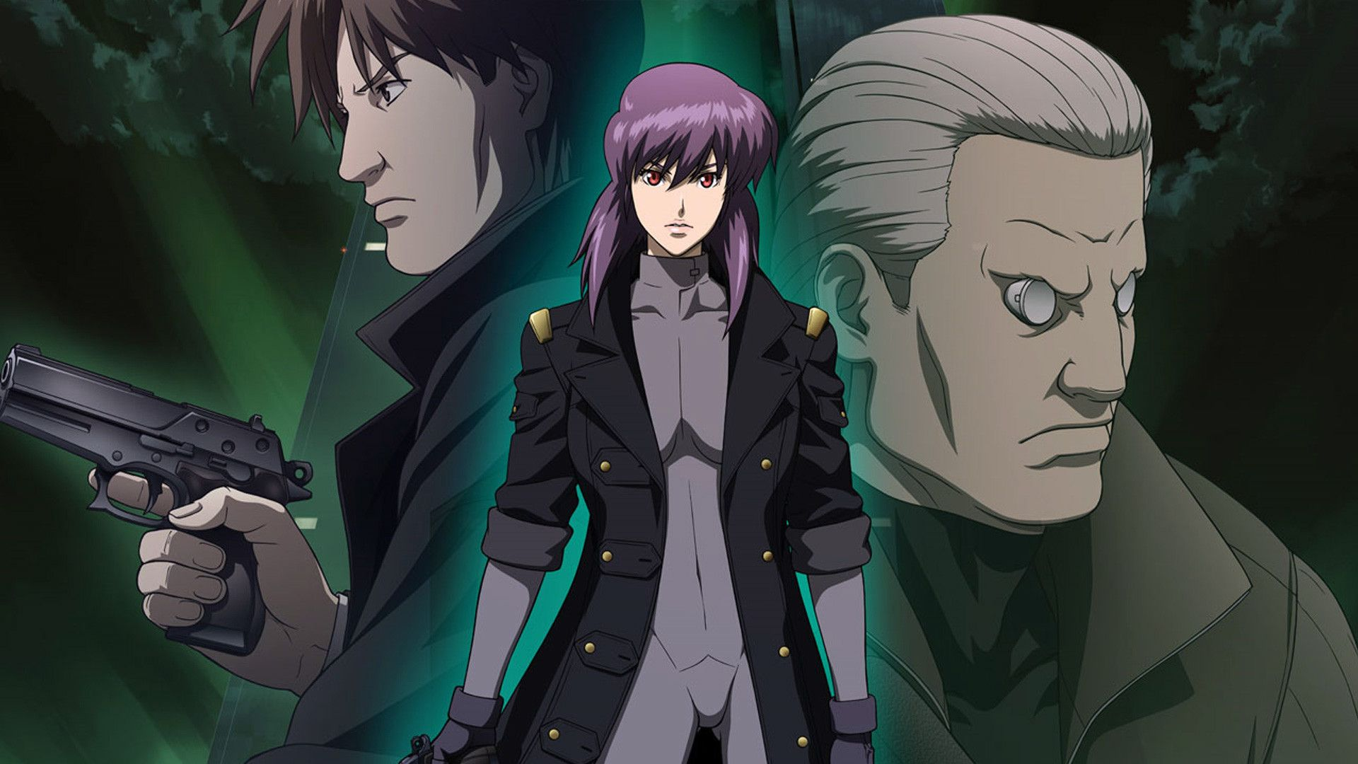 Togusa The Major And Batou Ghost In The Shell Stand Alone Complex Solid State Society Ghost In The Shell Anime Ghost