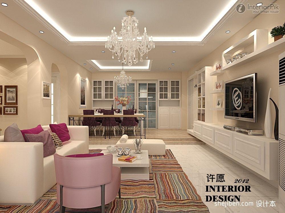 Living Room Ceiling Spotlight Effect Ideas