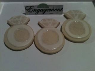 Engagement Ring Cookies by dessertroom on Etsy, $36.00