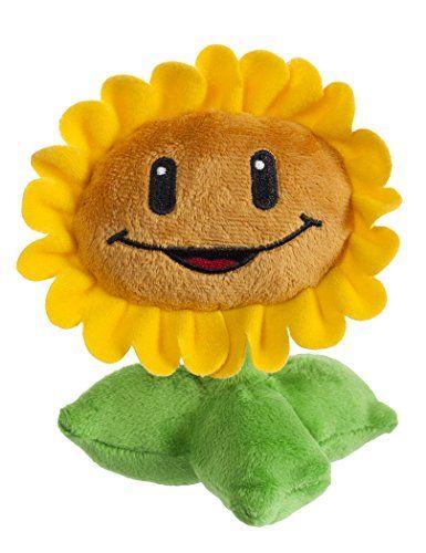 Amazon Com Plants Vs Zombies Sunflower Plush Toys Games Plants Vs Zombies Plant Zombie Sunflower Gifts