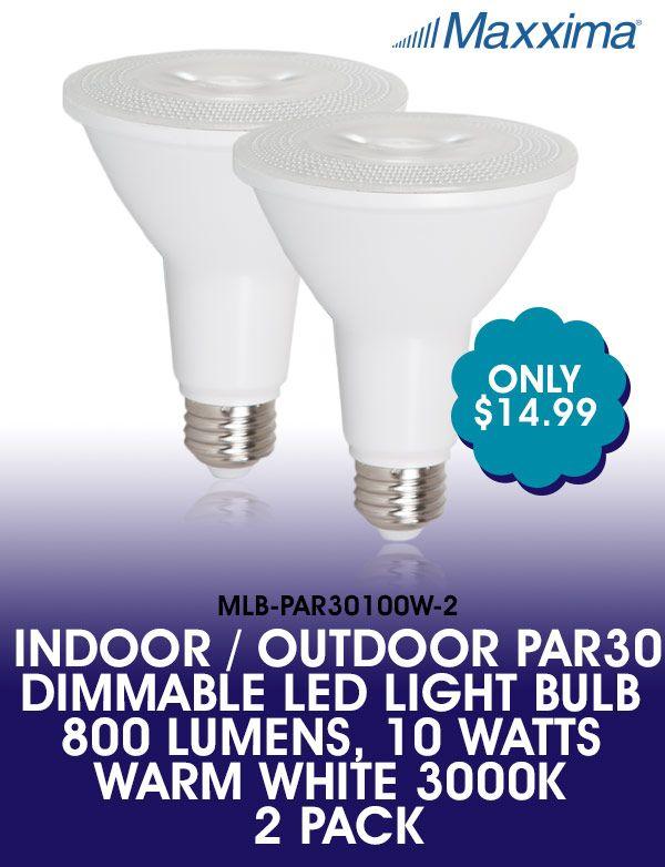 New Indoor Outdoor Par30 Dimmable Led Light Bulbs 800 Lumens 10 Watts Warm White 3000k 2 Pack Dimmable Led Lights Bulb Led Light Bulb