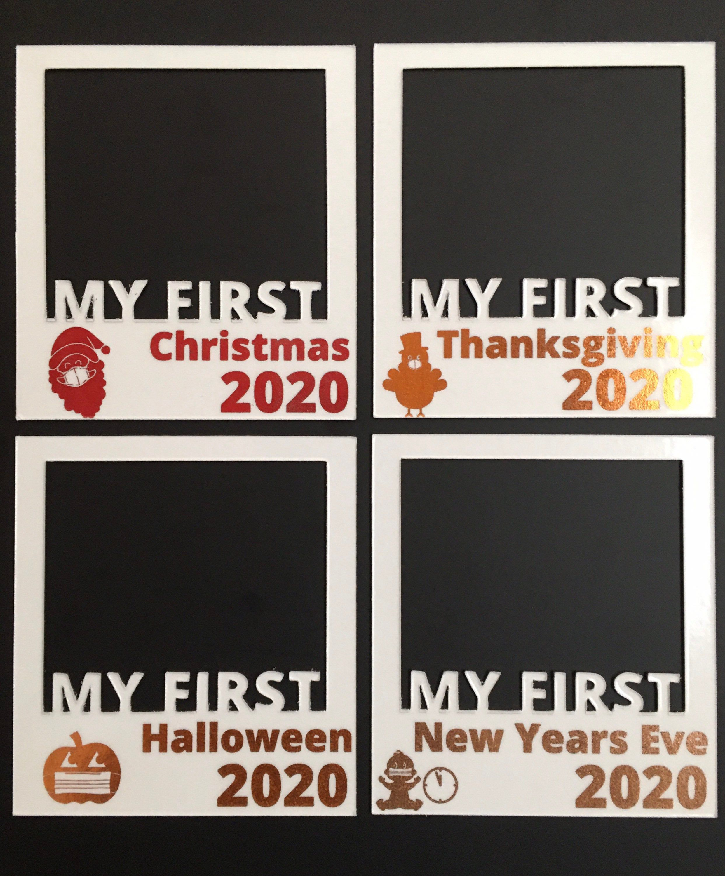 My First Halloween Christmas Thanksgiving And New Years Eve Etsy In 2020 First Halloween My First Halloween Holiday Pictures